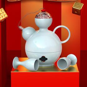 富玉 中式葫芦酒具套装 家宴礼物