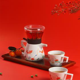锦鲤茶咖套组 | 茶水分离,一键冲出茶香气