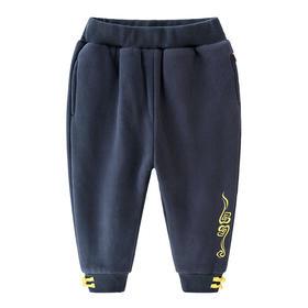 冬季儿童新款加厚长裤云纹小脚裤