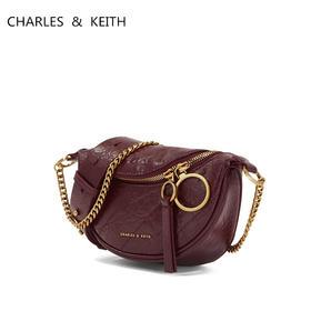 【爆仓7天内发货】CHARLES&KEITH小CK腰包褶皱斜挎小CK女包洋气链条包