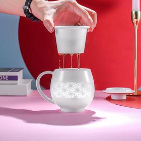 富玉  波澜系列情侣对杯 茶漏杯