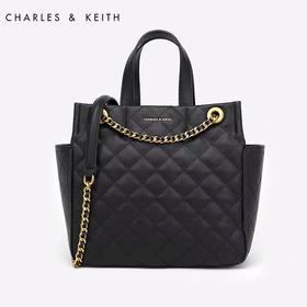 CHARLES&KEITH菱格链条大包小ck小香风限定单肩斜挎限量包女包