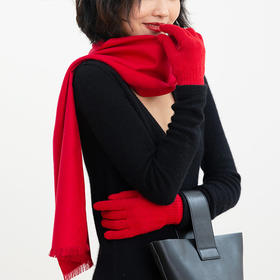 鼠你红·真丝拉绒围巾礼盒 | 采紫禁红霞做围巾,轻暖丝滑,赠你红运整年