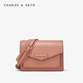 CHARLES&KEITH信封包小CK女士翻盖邮差单肩包