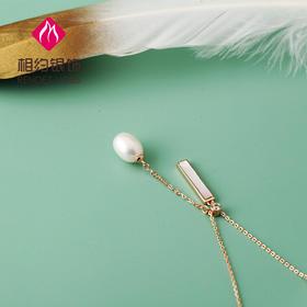 相约银饰S925银套链天然彩宝白珍珠贝壳套链