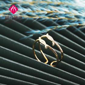相约银饰S925戒指各色人生系列交叉染色体时尚银戒
