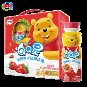 伊利QQ星营养果汁酸奶饮品草莓味200ml*16