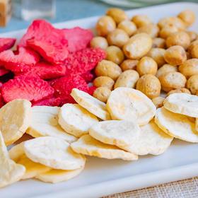 【2份更划算】生活选集田果冻干水果脆 草莓+香蕉+葡萄(3袋共60g)
