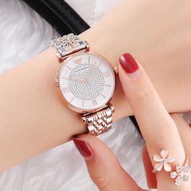 意大利 Emporio Armani 阿玛尼手表!璀璨满天星、摩天轮钢带女表、钢带男表、情侣表!商务时尚潮流!