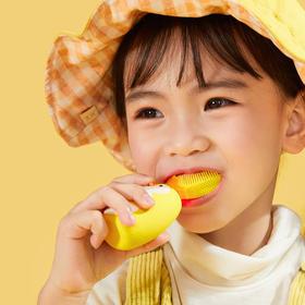【为思礼】薇娅推荐【赠送一支慕斯牙膏60ML】艾诗摩尔U型儿童牙刷 核桃小鸭联名款/限量发售 360°全口腔清洁