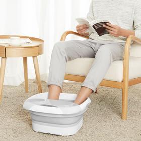 【让双脚享受SPA体验!】乐范恒温自动按摩泡脚盆神器  折叠式电加热