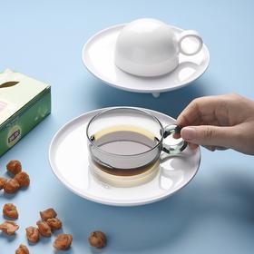 膳佳家居现代创意飞碟咖啡杯马卡龙色北欧轻奢水杯下午茶杯碟套装
