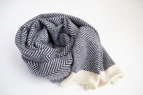 【年货节】100%羊绒人字纹大围巾