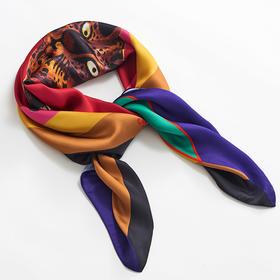 Cuscus丝巾围巾时髦Twilly窄丝巾 | 泰国宝藏艺术家和她的神奇动物们 | 基础商品