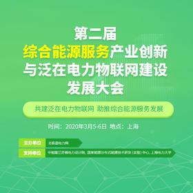 早鸟票 第二届综合能源服务产业创新与泛在电力物联网建设发展大会