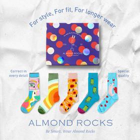 预售,预计2.20发货 半个娱乐圈都穿的潮袜,创意涂鸦,ALMOND ROCKS原创设计袜礼盒