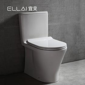 宜来陶瓷马桶卫生间小户型马桶连体虹吸式坐便器节水坐便器-香颂E-21037-G