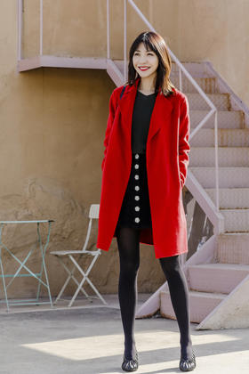 Maison Covet 羊绒系列 双面羊绒短款外套