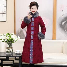 DP-926秋冬新款复古民族风妈妈装保暖棉服外套
