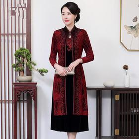 MY-59071新款喜婆婆婚礼婚宴礼服连衣裙两件套