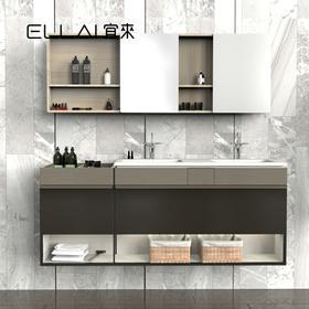 宜来卫浴(ELLAI)现代简约浴室柜卫生间挂墙式组合-天翼1200-1700