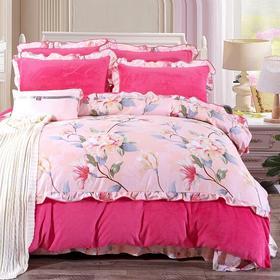 PDD-韩版法兰绒四件套加绒加厚珊瑚绒四件套冬季保暖双面床上用品