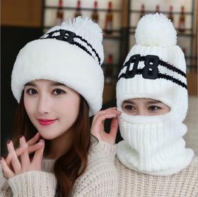 LN-新款女士毛线帽韩版加绒保暖针织帽