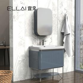 宜来浴室柜组合法式卫生间镜柜洗漱台落地洗脸盆柜-豆蔻II