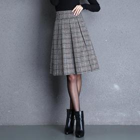MYX-KLFE-1812新款格纹韩版a字半身裙TZF