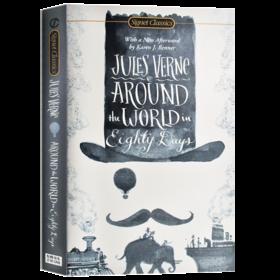 华研原版 八十天环游地球 英文原版小说 Around the World in Eighty Days 环游世界80天 凡尔纳 经典文学世界名著进口英语书籍