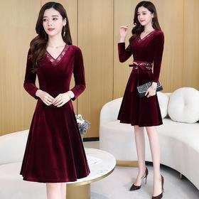 CQ-YBX5831新款时尚潮流舒适长袖连衣裙TZF