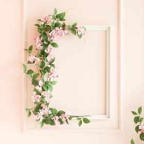 仿真花绣球花假花花藤条客厅空调管道室内背景墙橱窗装饰遮挡藤曼