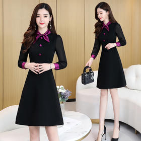 CQ-YBX5835新款时尚潮流舒适长袖连衣裙TZF