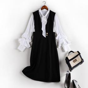 QMMY70141新款2020雪纺大码背带连衣裙套装TZF