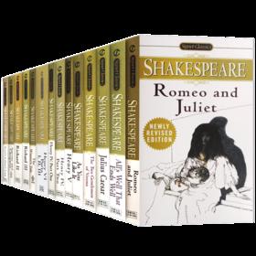 莎士比亚戏剧合集14本 英文原版 Shakespeare 罗密欧与朱丽叶 皆大欢喜 亨利五世 莎士比亚喜剧悲剧经典文学名著 英文版进口书籍