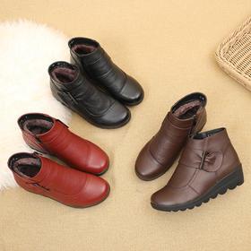 YXMYH02新款真皮加绒软底保暖棉靴TZF