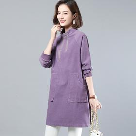 时尚潮流,舒适休闲长袖连衣裙CQ-LYSX2008
