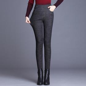 高腰显瘦修身,加绒加厚牛仔羽绒裤PXSJ-HWM-2162