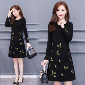 NYL-3112559新款韩版精品刺绣连衣裙
