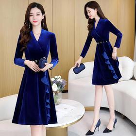 CQ-YBX5832新款时尚优雅潮流纯色连衣裙