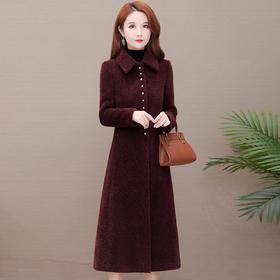 韩版时尚,长款貂绒大衣外套YW-JLNH-JHM120