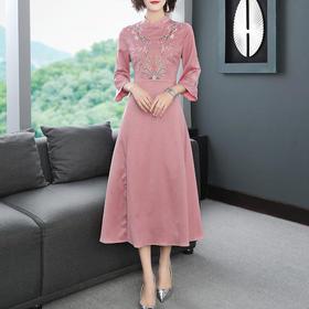 【浮花】复古中国风,气质改良汉服连衣裙YFN302007