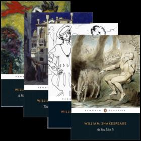 莎士比亚四大喜剧 英文原版 Four Great Comedies 4册套装 仲夏夜之梦 皆大欢喜 威尼斯商人 第十二夜 英文版经典名著 进口书籍
