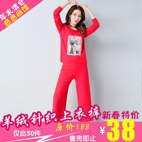 E8815新款羊绒针织上衣裤子TZF(新春佳节 感恩回馈)