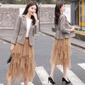 气质个性时尚,潮流中长款套装套裙CQ-BLKE2005-2