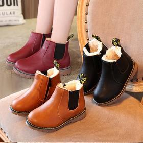 MH-Q10儿童纯色加绒加棉宝宝棉靴保暖马丁靴