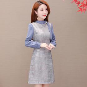时尚减龄,拼接连衣裙YW-TYH93978
