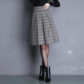 MYX-KLFE-1812新款格纹韩版a字半身裙