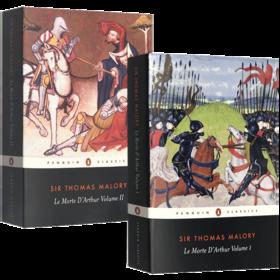 亚瑟王之死2本组套 英文原版奇幻小说 Le Morte d'Arthur Volume 1 2亚瑟王与圆桌骑士传奇 Penguin Classics 英文版进口原版书籍