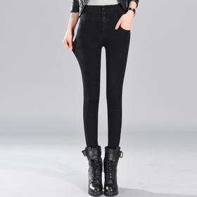 XMH-LY9059新款弹力修身女装牛仔小脚高腰牛仔裤